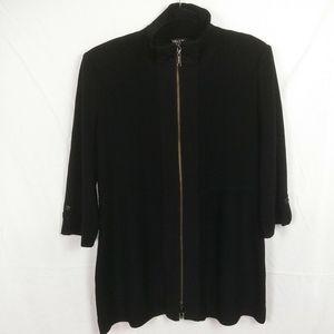 Misook Textured Zip Jacket